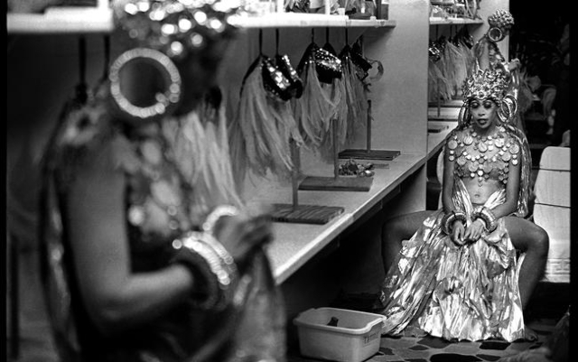"""Jubilee!"" dancers relax in a changing room during a 2001 show at Bally's, 3645 Las Vegas Blvd. South. Jeff Scheid/Las Vegas Review-Journal Follow @jlscheid"