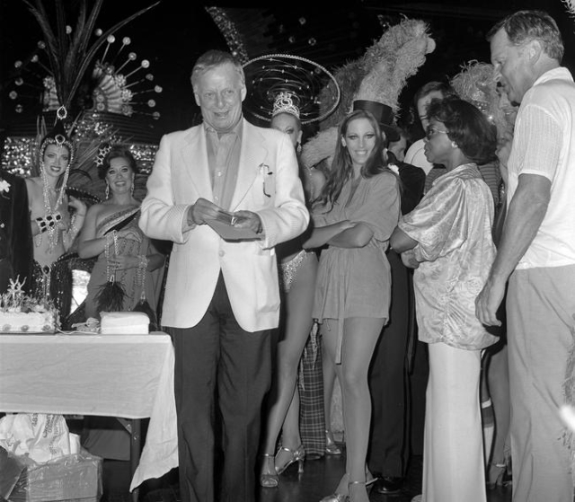 Producer Donn Arden celebrates his birthday after a dress rehearsal of Jubilee Friday, July 17, 1981. Courtesy, John Litty/Las Vegas News Bureau