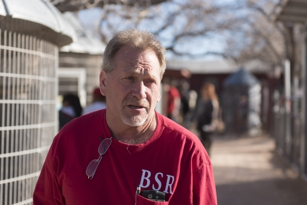 Alan Levinson, co-owner of Bonnie Springs Ranch in Las Vegas, speaks to a reporter at the ranch's petting zoo Sunday, Feb. 7, 2016. The petting zoo was the favorite part of the ranch for the ...
