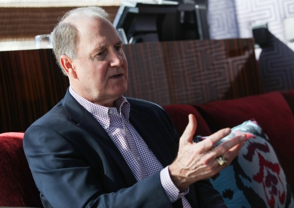 Gary Kelly, president and CEO of Southwest Airlines, talks about the state of the airline and its place in the industry during an interview in the Mandarin bar at the Mandarin Oriental in Las Vega ...