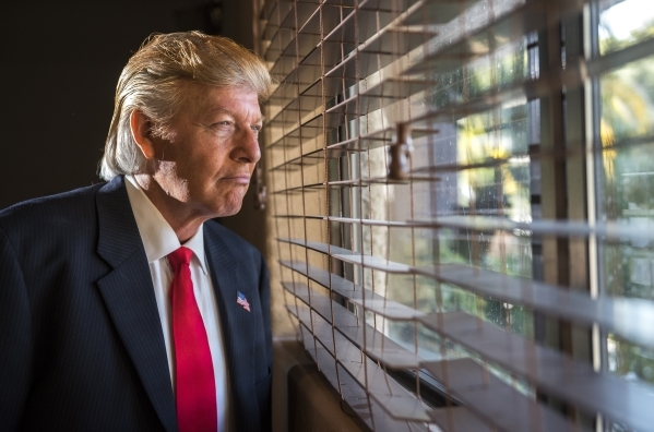 Impersonator Robert S. Ensler poses for a portrait as Donald Trump from the Vizcaya clubhouse condominiums in Las Vegas on Thursday, Feb. 11, 2016. Martin S. Fuentes/Las Vegas Review-Journal