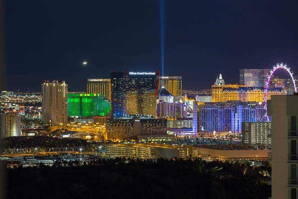 A night view of the Strip. COURTESY