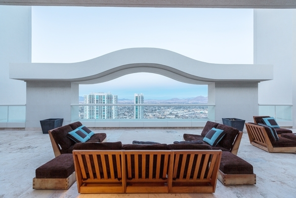 The Turnberry Towers penthouse has views from its top level. COURTESY
