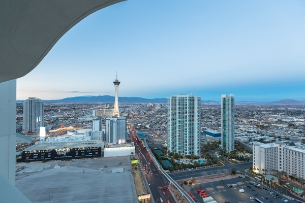A view of the Las Vegas Strip from a Turnberry Towers penthouse. COURTESY