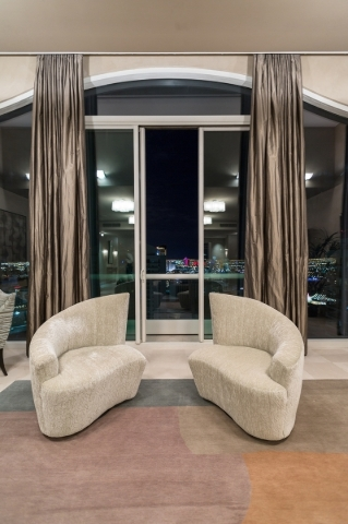 The view of the Las Vegas Strip from a Turnberry Towers penthouse listed for nearly $8 million. See the home tour in Real Estate Millions later this month. COURTESY