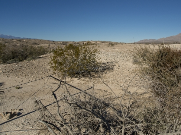 Large swaths of land at the end of North 5th Street at the northeast end of the 215 beltway are seen on Saturday, Dec. 12, 2015. Much of the land is planned to be developed into The Villages at Tu ...