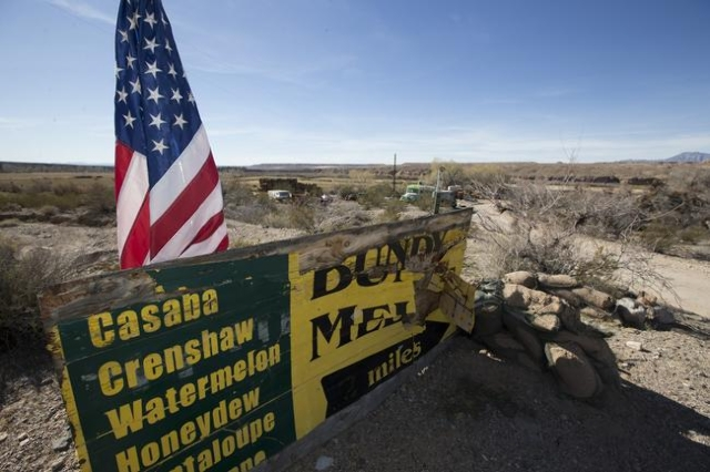 Cliven Bundy's ranch is seen on Thursday, Feb. 11, 2016, near Bunkerville, Nev. Erik Verduzco/Las Vegas Review-Journal Follow @Erik_Verduzco