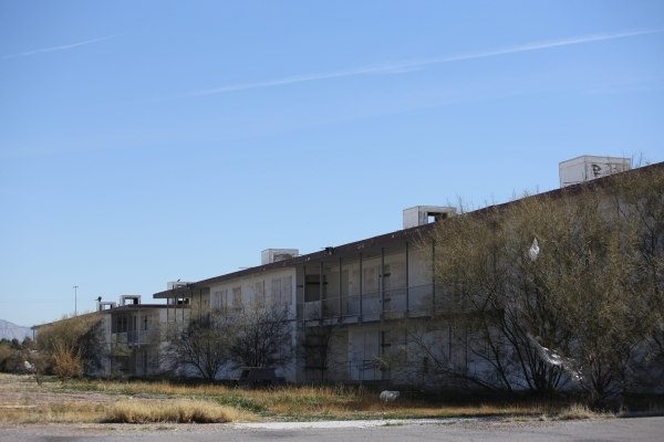 Condemned apartment buildings located north of the Moulin Rouge were purchased to consolidate all of the land around the first integrated casino in Las Vegas on Friday, Feb. 12, 2016. Brett Le Bla ...