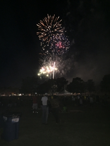 Fireworks are seen during the Taste and Tunes celebration at Craig Ranch Regional Park, 628 W. Craig Road, May 2, 2015. Special to View