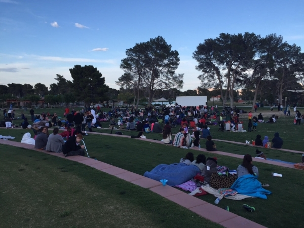 """Families gather to watch the movie """"Frozen"""" as part of North Las Vegas' Movie Madness series at Craig Ranch Regional Park, 628 W. Craig Road, May 15, 2015. Special to View"""