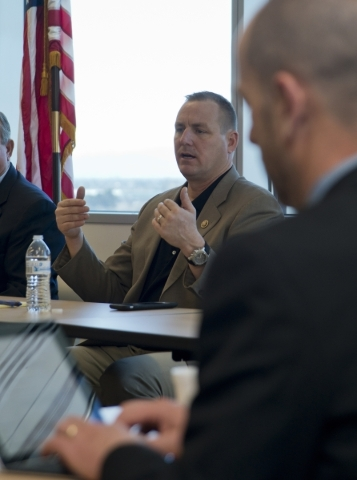 U.S. Rep. Jeff Denham, R-Calif., participates in a roundtable discussion on transportation issues inside North Las Vegas City Hall, on Monday, Feb. 15, 2016. Daniel Clark/Las Vegas Review-Journal  ...