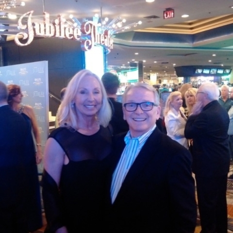"""Jubilee"" icon Janet Ford Spelman and famed fashion and costume designer Bob Mackie attend the show's closing night Thursday. (Courtesy)"