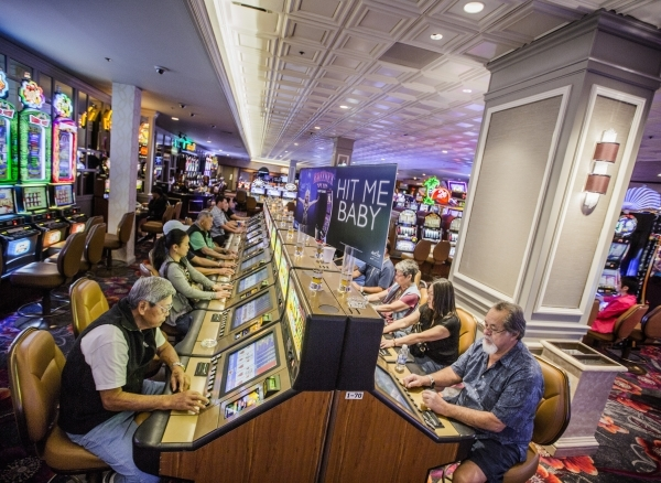 People play video poker in the recently remolded gaming area of the California Hotel & Casino,12 East Ogden Avenue, on  Tuesday, Feb, 16, 2016.  Boyd Gaming  is spending $100M to upgrade prope ...
