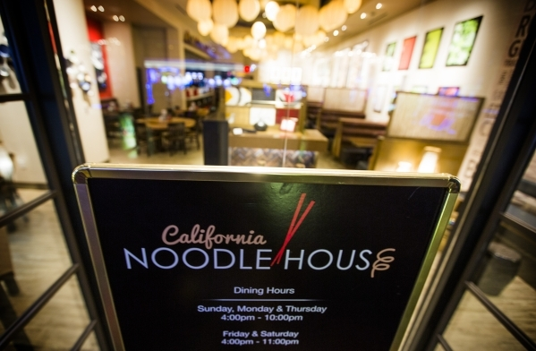 The recently opened California Noodle house is seen Tuesday, Feb, 16, 2016  in California Hotel & Casino, 12 East Ogden Avenue.  Boyd Gaming is spending $100M to upgrade property. Jeff Scheid/ ...