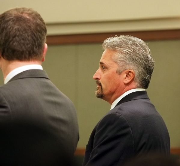 Former counseling service owner Steven Brox is sentenced in the courthouse fraud involving suspended defense lawyer Brian Bloomfield and his clients at Regional Justice Center in Las Vegas, Wednes ...