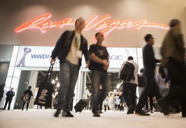 Men´s Apparel Guild in California show attendees walk inside the Las Vegas Convention Center on Wednesday, Feb. 17, 2016. Jeff Scheid/Las Vegas Review-Journal Follow @jlscheid