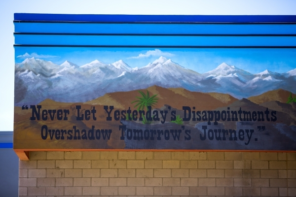 An inspirational message is seen Friday, Feb.26, 2016 on the wall of Summit View Youth Correctional Center, a 48-bed facility in North Las Vegas.  Jeff Scheid/Las Vegas Review-Journal Follow @jlscheid