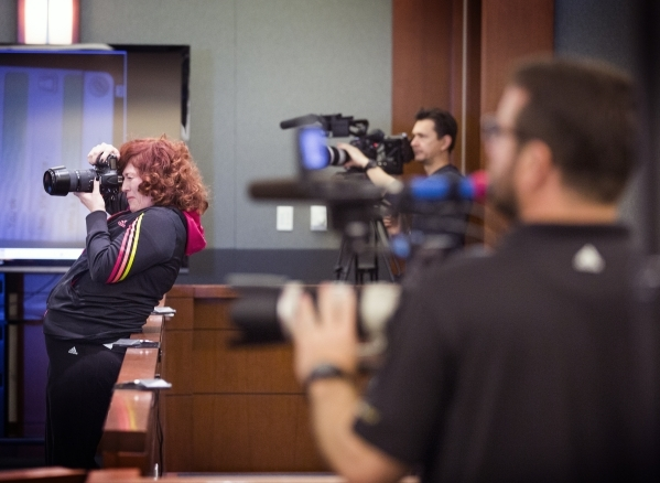 Film crew with Las Vegas D.A. docudrama, is seen in murder trial at Regional Justice Center, 200 Lewis Avenue, on Friday, Feb. 19, 2016. Jeff Scheid/Las Vegas Review-Journal Follow @jlscheid