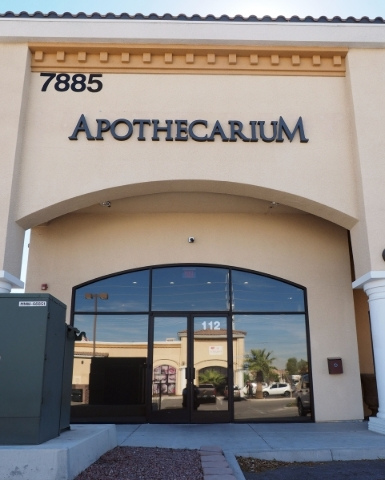 The storefront of The Apothecarium, a medical marijuana dispensary at 7885 W. Sahara Ave., is seen in Las Vegas, Friday, Feb. 19, 2016. Jerry Henkel/Las Vegas Review-Journal.