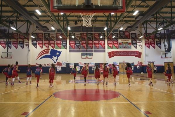 The Liberty girls basketball team warms up during practice at Liberty High School in Las Vegas on Tuesday, Feb. 23, 2016. Daniel Clark/Las Vegas Review-Journal Follow @DanJClarkPhoto