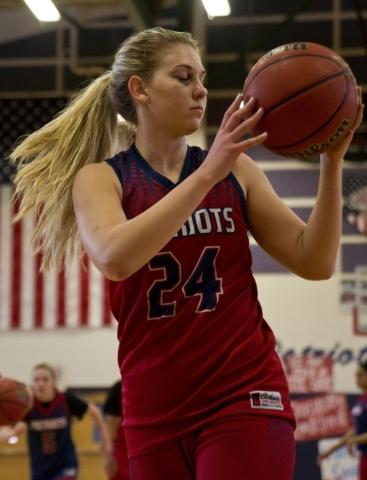 Liberty's Gabby Doxtator (24) catches the ball during practice at Liberty High School in Las Vegas on Tuesday, Feb. 23, 2016. Daniel Clark/Las Vegas Review-Journal Follow @DanJClarkPhoto