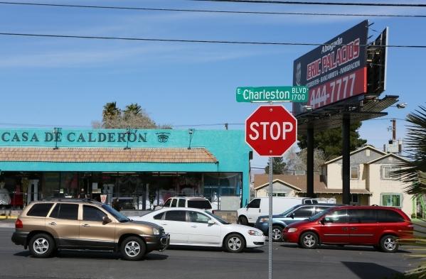 Traffic is shown on Charleston Boulevard near 17th Street Tuesday, Feb. 23, 2016, in Las Vegas. Ronda Churchill/Las Vegas Review-Journal
