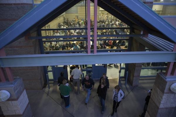 People participate in the Nevada Republican caucus at Del Sol High School on Tuesday, Feb. 23, 2016, in Las Vegas. Erik Verduzco/Las Vegas Review-Journal Follow @Erik_Verduzco