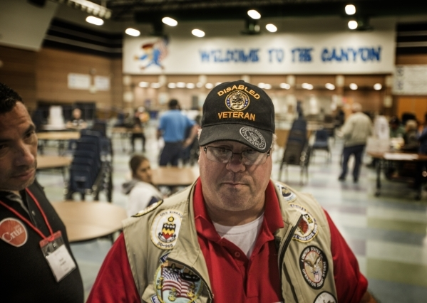 James Mauro, a supporter of presidential candidate Donald Trump, is upset that the Republican caucus doesn't provide much disclosure during voting at Canyon Springs High School, 350 E. Alexa ...