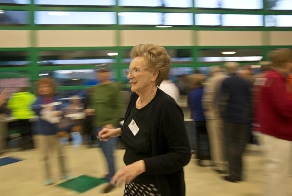 Volunteer Darlene Milloy walks inside Green Valley High School during the Nevada Republican presidential caucus in Henderson on Tuesday, Feb. 23. 2016. Daniel Clark/Las Vegas Review-Journal Follow ...