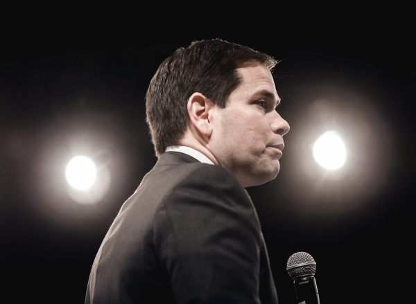 Republican presidential candidate Sen. Marco Rubio speaks during a rally at the Silverton Casino, 3333 Blue Diamond Road on Tuesday, Feb.23, 2016. Jeff Scheid/Las Vegas Review-Journal Follow @jlscheid