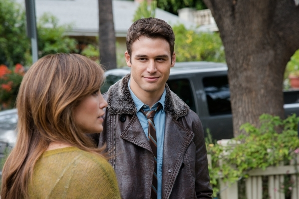 "Film Title: The Boy Next Door  Noah (RYAN GUZMAN) has his sights set on Claire (JENNIFER LOPEZ) in ""The Boy Next Door"". Jennifer Lopez leads the cast of the psychological thriller that e ..."