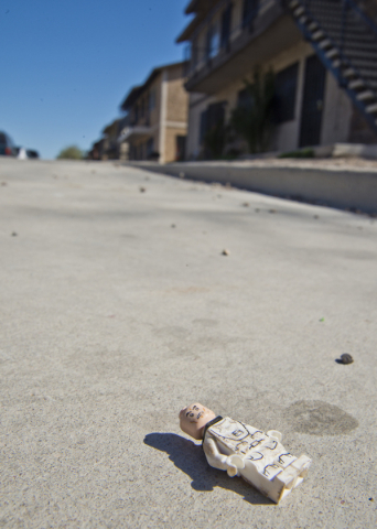 A discarded Lego toy lies on the pavement in a neighborhood that has seen a dramatic rise in poverty near Nellis and Las Vegas boulevards on Thursday, Feb. 25, 2016. Daniel Clark/Las Vegas Review- ...