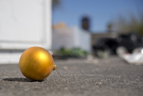 A discarded ornament lies on the pavement in the parking lot of a closed Wal-Mart on the corner of Nellis and Las Vegas boulevards on Thursday, Feb. 25, 2016. The neighborhood it served has seen a ...