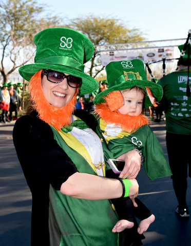 St. Baldrick's Foundation for Childhood Cancer Research 5k Run attempts to break the record for the largest gathering of leprechauns at Town Square in Las Vegas. Saturday, February 13, 2016. ...