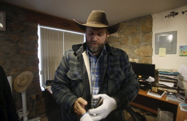 Ammon Bundy is seen in an office at the Malheur National Wildlife Refuge near Burns, Oregon, January 9, 2016. (Jim Urquhart/Reuters)