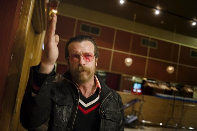 Singer of Eagles of Death Metal, Jesse Hughes, is pictured prior to their concert at Debaser Medis in Stockholm, Sweden, February 13, 2016. The concert in Stockholm is the band's first after the ...