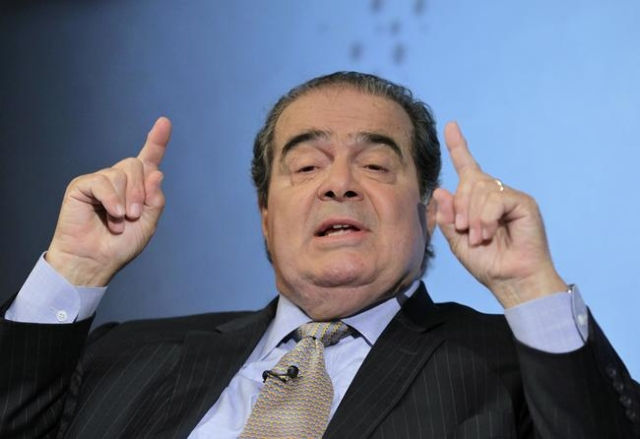 U.S. Supreme Court Justice Antonin Scalia speaks at a Reuters Newsmaker event in New York, Sept. 17, 2012.  Scalia, 79, was found dead on Saturday, Feb. 13, 2016, in Texas. (Brendan McDermid/Reute ...