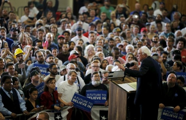 Bernie Sanders speaks at a campaign rally in Las Vegas on Feb. 14, 2016. (REUTERS/Jim Young)