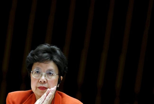 World Health Organization Director-General Margaret Chan attends the WHO Executive Board meeting in Geneva, Switzerland, in this January 25, 2016 file photo. To match Special Report HEALTH-WHO (De ...