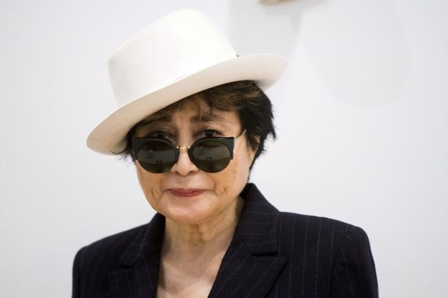 "Artist Yoko Ono stands in the exhibit ""Half-A-Room"" at the Museum of Modern Art exhibition dedicated exclusively to her work, titled ""Yoko Ono: One Woman Show, 1960-1971""  in N ..."
