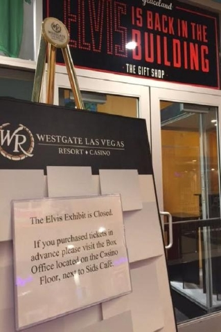 """Westgate Las Vegas closed """"Graceland Presents: Elvis the Exhibition"""" last week after a dispute with the tenant less than a year into a 10-year contract. (Norm Clarke/Las Vegas Review-Jou ..."""