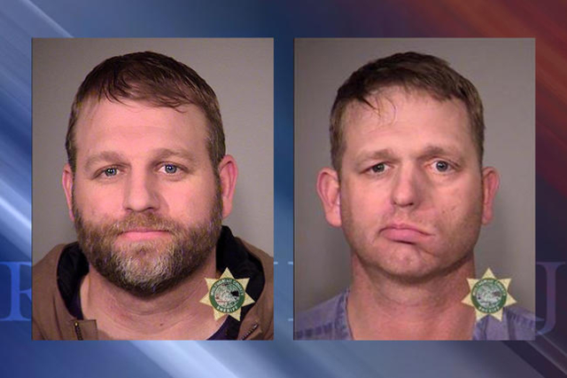 Ammon Bundy, left and Ryan Bundy (Multnomah County Jail)