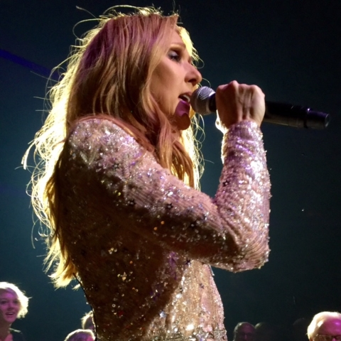 Celine Dion returned to The Colosseum at Caesars Palace on Tuesday, Feb. 23, 2016. It was her first performance since the death of her husband and lifelong manager, Rene Angelil. (Norm Clarke/Las  ...