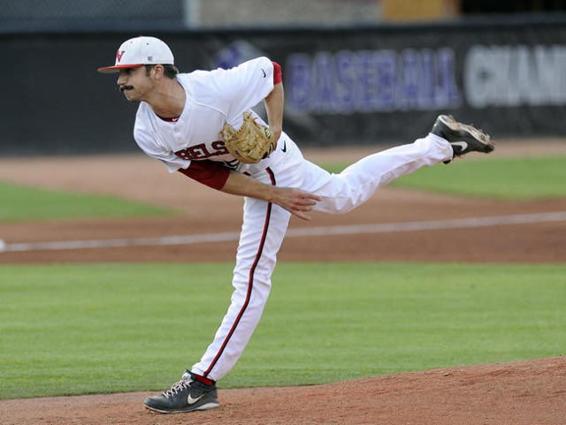 UNLV Rebels starting pitcher Kenny Oakley, seen in 2014 (Las Vegas Review-Journal)