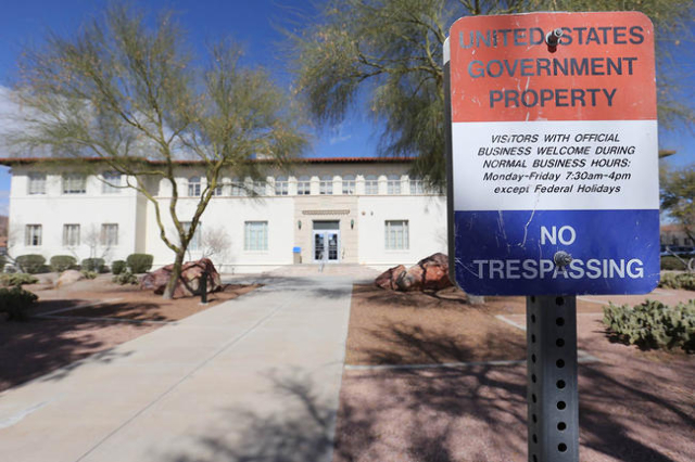 The Bureau of Reclamation Lower Colorado Region building in Boulder City, Nev., is seen on Thursday, Fed. 18, 2016. (Brett Le Blanc/Review-Journal Follow @bleblancphoto)