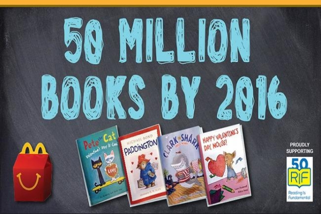 McDonald's 50 million books (Courtesy)