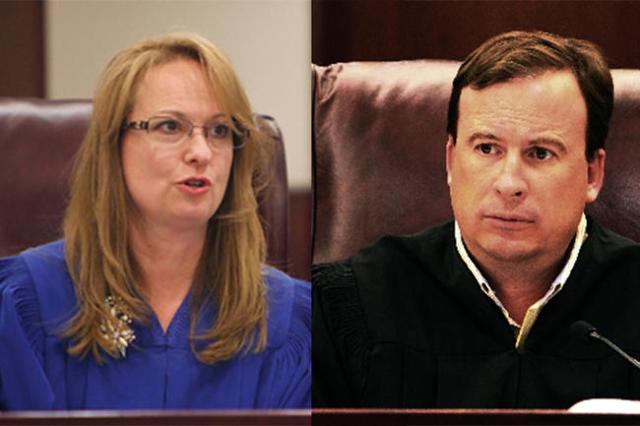 Municipal Court Judges Catherine Ramsey and Sean Hoeffgen (Las Vegas Review-Journal file)