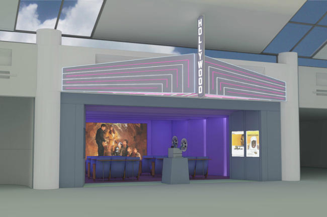 PDX is creating a vintage-style cinema for passengers on the go. The See 18 Film Screening Room opened in August 2014.