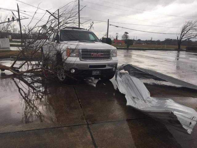 Storm damage in LaPlace, Louisiana, Feb. 23, 2016. (CNN)