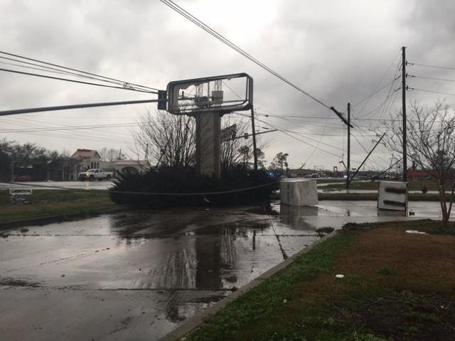 Storm damage in LaPlace, Louisiana, Feb. 24, 2016. (CNN)